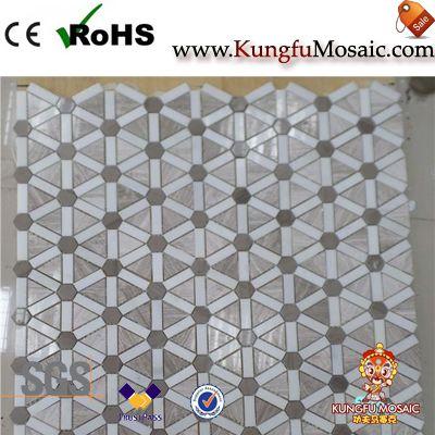 New Design Marble Floor Mosaic Tile