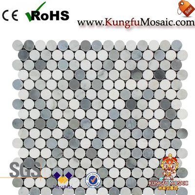Penny Round Polish Marble Mosaic Tile