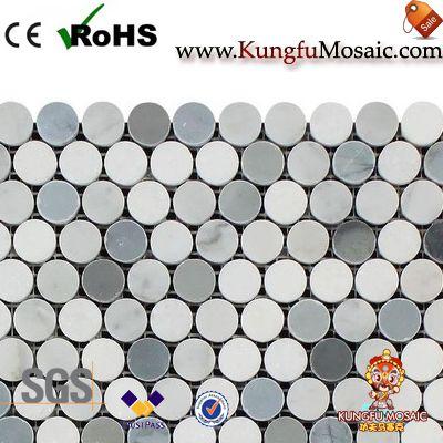 Penny Runde polnischen Marmor Mosaik Fliesen