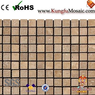 Tumbled Noce Travertine Mosaic Tiles