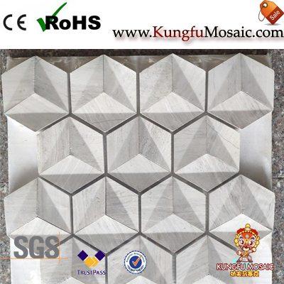 Деревянные 3D Мраморная мозаика плитки