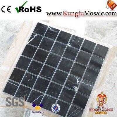 Brick Marquina Black Marble Floor Mosaic