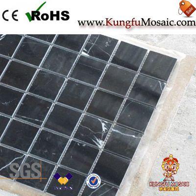 Ziegel Marquina schwarz Marmor Boden Mosaik