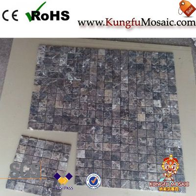 Empeardor Dark Stone Mosaic Tiles Floor