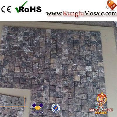 Empeardor Dark Stone Mosaic Tiles Floor