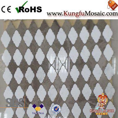 Blume Laterne Marmor Mosaik Fliesen
