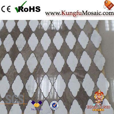 Flower Lantern Marble Mosaic Tiles