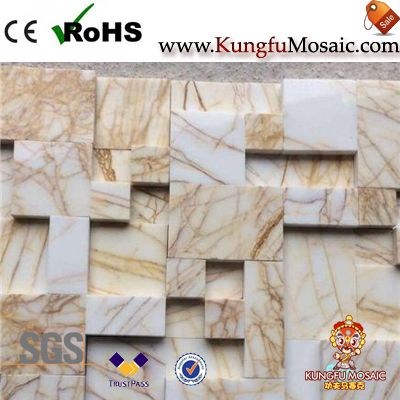 Golden Spider Marble Mosaic Tiles