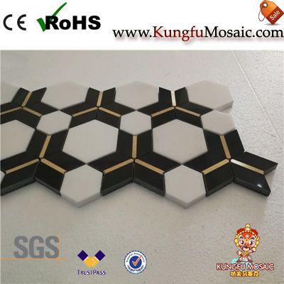 Hexagon Waterjet Marble Mosaic Tile