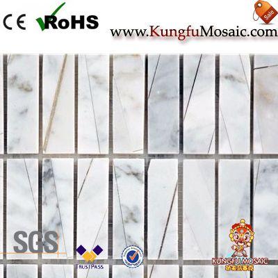 Italienische weiß gestapelt Stein Badezimmer Mosaik