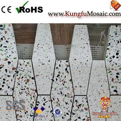 Польский шестиугольник Камень Терраццо Мозаика