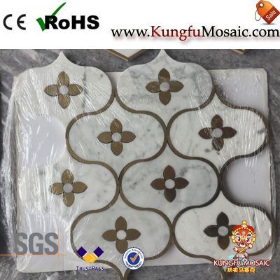 Water Jet Cutting Marble Mosaic Tile