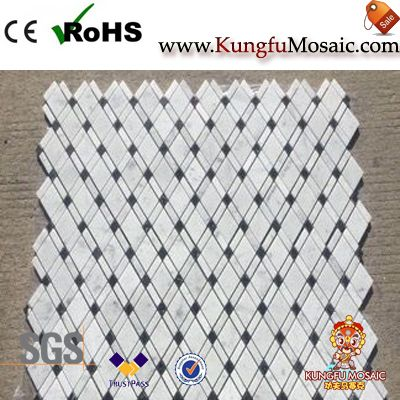 White Wall Marble Diamond Mosaic