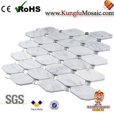 carrara marble mosaic tiles