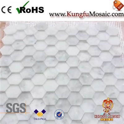 Белая мраморная мозаика