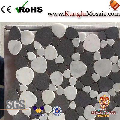 Black Basalt Pebble Marble Mosaic
