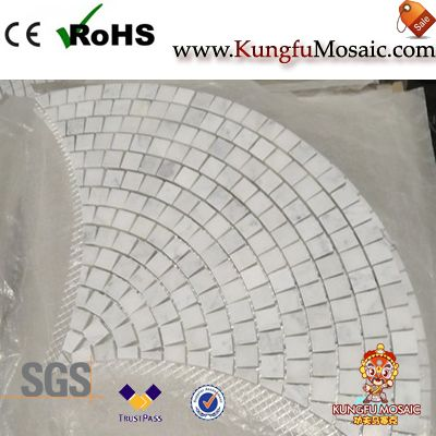 Fan Diagram Marble Mosaic Floor Tiles