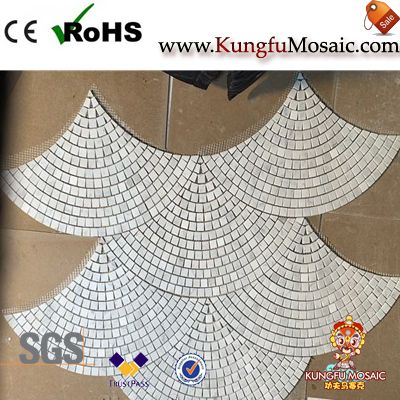 Carrelage de sol en mosaïque de marbre de diagramme de ventilateur