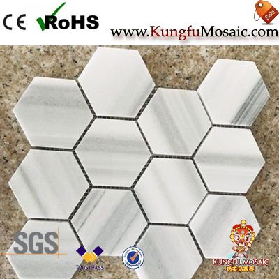 Marmara White Marble Hexagon Mosaic