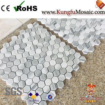 Marmara White Marble Hexagon Mosaic