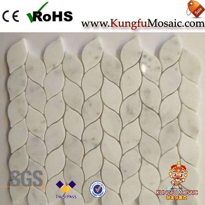Wall Liner Strips White Marble Mosaic