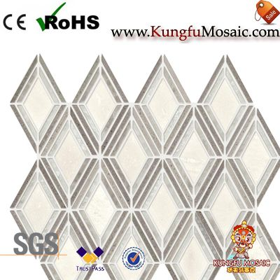Waterjet Marble Mosaic Diamond Tiles