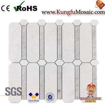 Revêtement moderne de mosaïque de marbre blanc