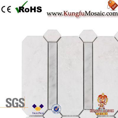 Revestimiento de mosaico de mármol blanco moderno