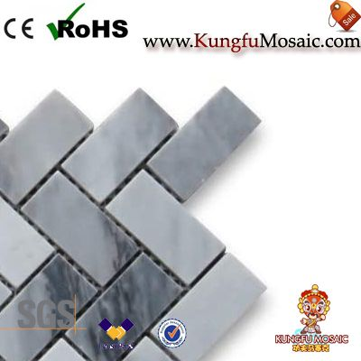 gray marble mosaic tile bathroom floor