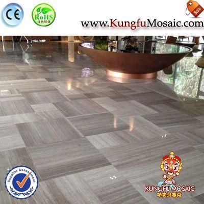 Grey Wooden Grain Marble Floor Tiles