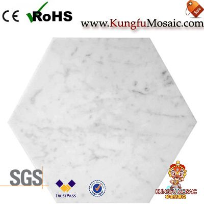 Carrara Marble Hexagon Floor Tiles