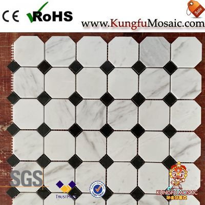 Greek Marble Octagon Mosaic Tile