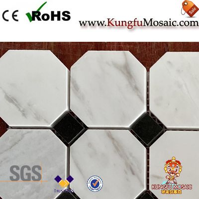 Греческий Мраморный октагон Мозаика плитка