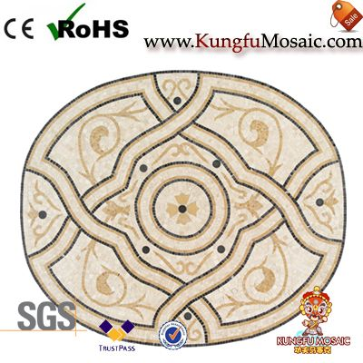 Oval Marble Mosaic Medallion Floor