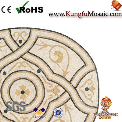 Oval Marble Mosaic Medallion