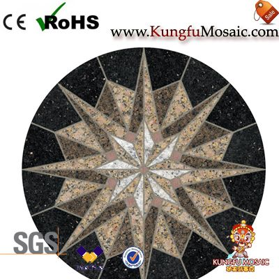 Round Granite Medallion Stone Floor Tiles