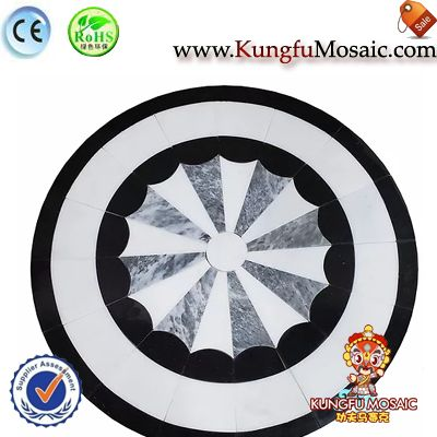 Umbrella Shape Marble Medallion Floor2