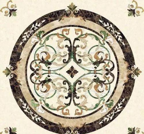 Médaillon en marbre tuiles