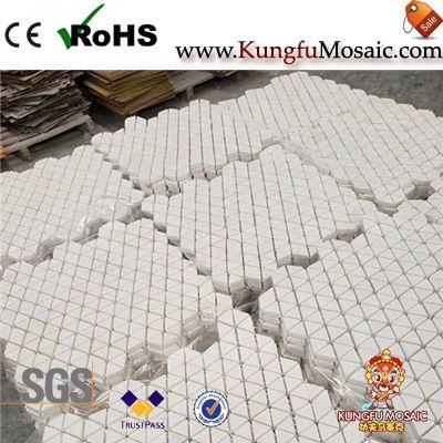 Triangle And Diamond White Marble Mosaics2