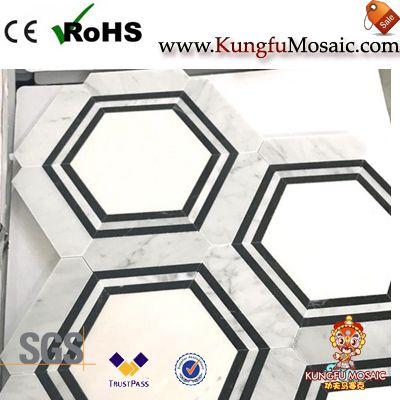 Badezimmer Sechseck Marmor Backsplash Mosaik Fliesen