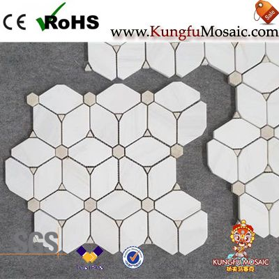 New Pattern Water Jet Marble Mosaic Tiles