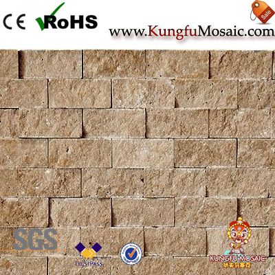 Noce Travertine Split Face Mosaic