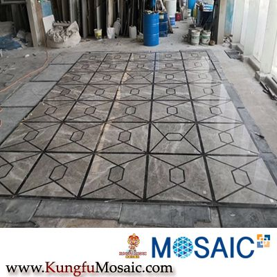 Marble Water-Jet Mosaic for Floor