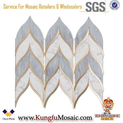 Chevron Marble Mosaics Cuisine Dosseret