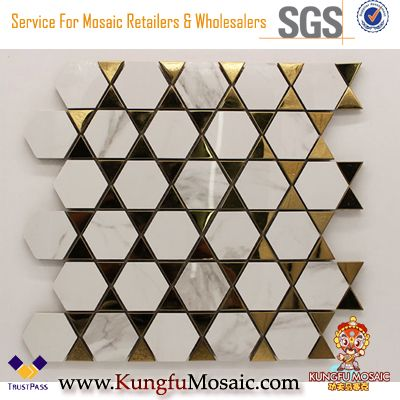 Modern White Marble Bathroom Mosaic Wall Tiles