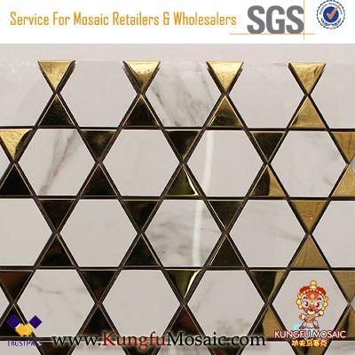 Modern White Marble Bathroom Mosaic Wall Tiles