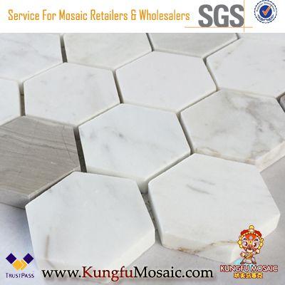 Waterjet Mosaik Marmor Sechseck Fliesen