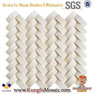 Beige Blend Pattern Marmor Mosaikfliese