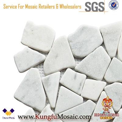 Carrara Broken Stone Marmor Mosaik Fliese 8mm