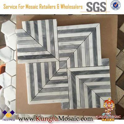 Diamond Carrara mosaico blanco azulejos de pared